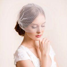 Bridal Birdcage Veil Double  Bandeau Style Double by Florentes