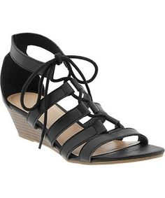45 Pairs Of Walkable, Low-Heeled Sandals At Every Price: Gladiator Wedge Sandals, $29.94, oldnavy.gap.com