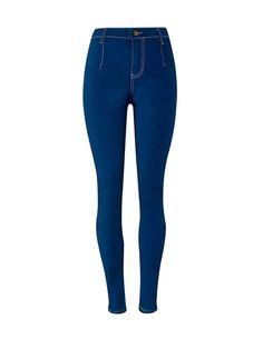 Plain Skinny Slim-Leg High-Rise Jean