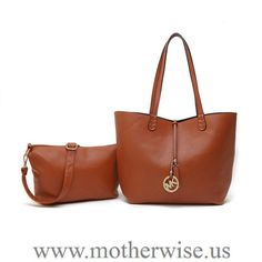 Michael Kors Charm Logo Large Brown Tote - * Leather* Golden hardware* Hanging logo charm* Small bags with big bag* Double handles* Inside zip, cell phone and multifunction pockets * x x And x x Imported Michael Kors Shoulder Bag, Michael Kors Outlet, Handbags Michael Kors, Shoulder Bags, Adidas Nmd, Boutique Michael Kors, Superstar, Fashion Handbags, Women's Handbags