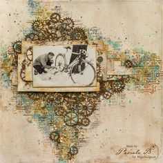 """""""Bad Luck"""" by Pascale - gorgeous layout, using papers from the """"I Wish"""" collection."""