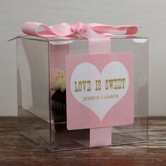 8  Personalized Cupcake Boxes  Love is Sweet Design by thefavorbox