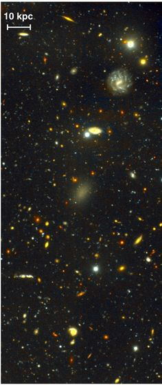 A galaxy made of 99.9% dark matter 8/30/16 EarthSky | Although it's relatively nearby, Dragonfly 44 was missed for decades by astronomers because it's very dim. But there's more to this galaxy than meets the eye. Dragonfly 44 from the Sloan Digital Sky Survey.