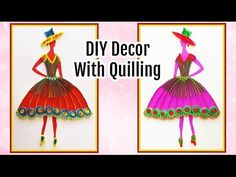 DIY Wall Decoration With Quilling Princess I Do It yourself Room Decor Ideas - YouTube