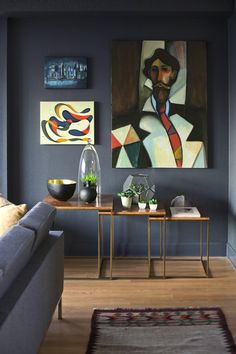 I think we know what color I want to paint the walls... Can I find a print of this abstract painting?