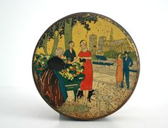 Amazing Antique French litho Biscuits tin Paris by GuidouxVintage