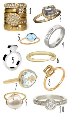 top 10 modern engagement rings - brooklyn bride #Home