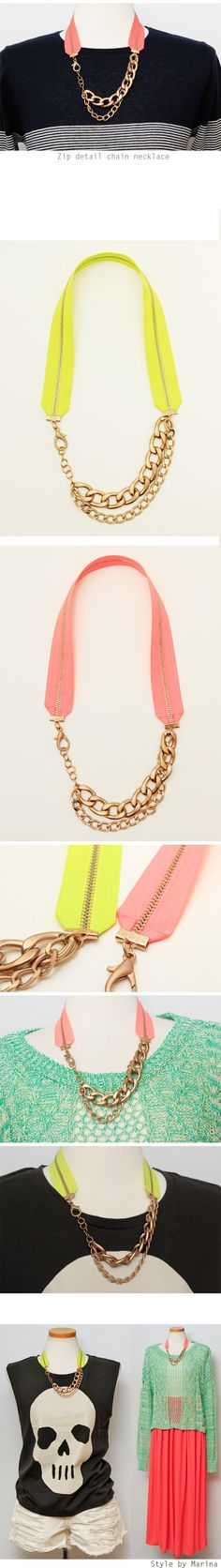 Zip detail necklace - accessories Style by Marina