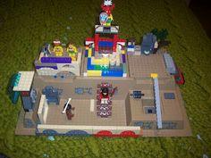 Story of the World: Chapter 7 ~ Ziggurat made of Legos.