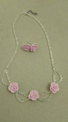 Fimo necklace and earrings :)