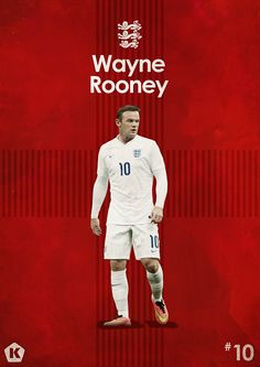 Wayne Rooney 10 Stars on Behance Manchester United Football, Lionel Messi, Fifa, Man Utd Fc, God Of Football, Pier Paolo Pasolini, Soccer Poster, Brazil, Poster