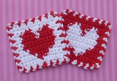 Whiskers & Wool: Heart Coaster - Free Pattern http://whiskersandwool.blogspot.com/2011/01/heart-coaster-free-pattern.html