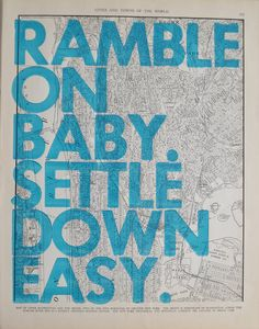 Upper Manhattan and The Bronx / Ramble On Baby by amyriceart