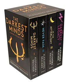 The Darkest Minds Series by Alexandra Bracken 4 Books Collection Set Exclusive Slipcase Edition (The Darkest Minds, N. Adult Fantasy Books, Fantasy Book Series, Fantasy Books To Read, The 100 Book Series, Cool Books, Ya Books, Book Club Books, Teen Books, Books To Read In Your Teens