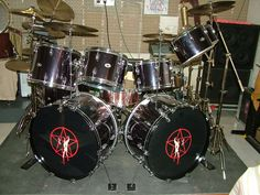 Neil Peart replica kit  used up though Caress of Steel