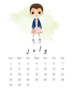 Calendário 2018 Stranger Things para baixar e imprimir GRÁTIS | BLOG PEQUENAS INFINIDADES #blogpequenasinfinidades #organization #organização #calendar #calendarios #strangerthings #eleven #calendario2018 #2018calendar #freeprintable