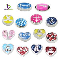 "10PCS!! 8MM ""Love you"" Floating charms Zinc Alloy Fit Floating lockets & Floating locket bracelet  LSFC033-LSFC428*10"