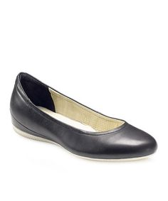 Take a look at this Black Angel Ballerina Flat by ECCO on #zulily today!