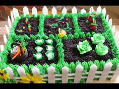 How to Make a Vegetable Garden Cake - Gretchen's Bakery