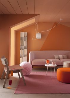 orange interior | inspiration and color matching | orange and pink (+ pastel colors)