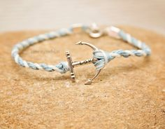 Carolina Blue and White braided nautical LOVE by HarmonyAndBliss, $10.00