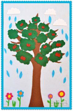 DIY Felt Board to Teach Seasons and Weather to Preschoolers #seasons #spring #winter #fall #summer #learning #kindergarten #kids #children #prek #toddler #felt #diy #craft #kids #children #weather #easy #simple