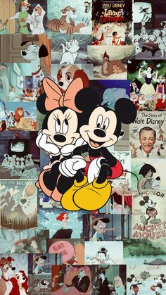 Wallpaper Minnie and Mickey Disney Mickey Mouse Wallpaper Iphone, Cartoon Wallpaper Iphone, Cute Disney Wallpaper, Cute Cartoon Wallpapers, Wallpaper Awesome, Wallpaper Wallpapers, Cartoon Images, Disney Kunst, Disney Art