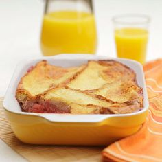 Breakfast Fruit Bread Pudding  #recipe #breakfast