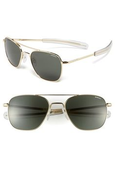 Free shipping and returns on Randolph Engineering 55mm Aviator Sunglasses at Nordstrom.com. Worn by pilots, gleaming sunglasses with bayonet temples and a 23-karat gold-plate finish are engineered to rigid mil-spec standards
