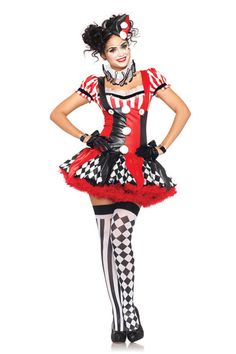 Harlequin Clown Adult Costume for Halloween - Pure Costumes