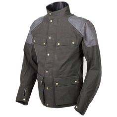 21653bd03d8c8 Scorpion Birmingham Waterproof Jacket Waxed Cotton Jacket, Motorcycle Gear,  Classic Motorcycle, Green Jacket