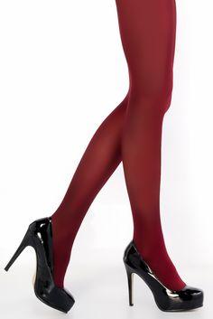 Vínové punčochové kalhoty Penti Mikro 40