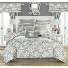 Chic Home Olivier Silver 24-piece Bed in a Bag Set | Overstock.com Shopping - The Best Deals on Bed-in-a-Bag