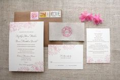 Rustic Florals Wedding Invitation By things are better with a parrott