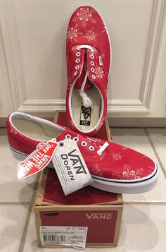 34775ef05ed8 Vans Era Van Doren Skull Snowflake Racing Red VN0003Z5HWZ Men s Size 12   fashion  clothing  shoes  accessories  mensshoes  casualshoes (ebay link)