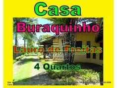 Casa de 4 dormitórios sendo 1 suíte Localizado no bairro Buraquinho de Lauro de Freitas