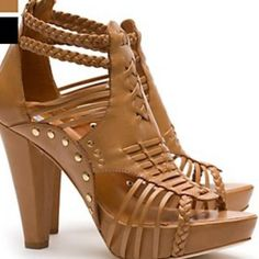 Pour La Victoire Studded Strappy Gladiator Sandals