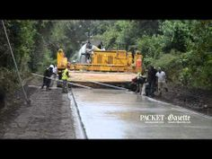 Special machine used to lay concrete for Spanish Moss Trail - YouTube