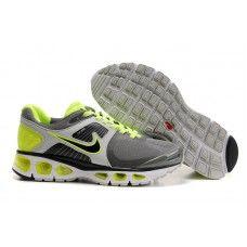 online store b46bb 1e9bd Hommes Nike Air Max 2010 Gris Silver Vert