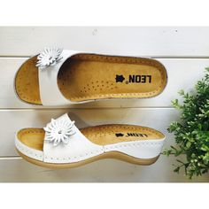 Leons Lotus bílá Slip On, Sandals, Shoes, Fashion, Moda, Shoes Sandals, Zapatos, Shoes Outlet, Fashion Styles