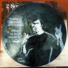 Bruce Lee- Acrylic on vinyl ( Not Stenciled ) *SOLD*