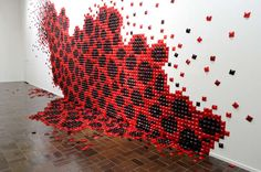 Origami Wallpaper Sculptures - These Textured Paper Art Installations Utilize Origami Structures (GALLERY)