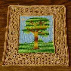 "From @Interior Design & Style :  A Family History Story by Ruth Sandra Sperling (me) ~~~ ""MY MOTHER JUDY'S INFLUENCE ON MY ARTS AND CRAFTS"" ~~~~~ Pictured here a Tree Crochet Tapestry I designed and crocheted myself!!"