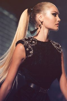 Women tend to often forget how classy and elegant a ponytail can look if done properly. The trick to doing it right is to wet you hair sufficiently than slick it back with a comb and secure the ponytail with a tight elastic. Once secured put a sufficient amount of hairspray to keep your hair in place for the entire day.