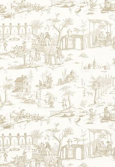Siena Toile Schumacher Fabric