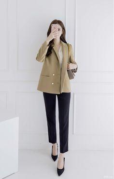 Korean Fashion Office, Korean Girl Fashion, Office Fashion Women, Korean Fashion Trends, Korean Street Fashion, Ulzzang Fashion, Korea Fashion, Korean Fashion Summer, Korean Outfit Street Styles