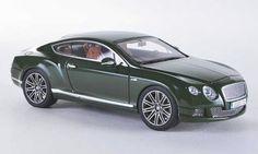 *Diecast Models....BENTLEY CONTINENTAL GT SPEED GREEN LOOK SMART