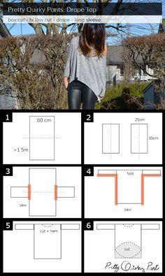 Instruction Layout - diy drape top