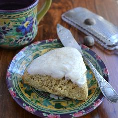 Chai, the mixed spice tea from India, has the most wonderful spices in it, but I'm not much of a tea drinker, so I made my scones with coffee instead. I like this assortment of spices because it gives a hint of fall and holiday without hitting you over the head with it.  It's subtle and exotic. The mix of spices can vary with authentic chai— the ones I chose are ginger, cinnamon, allspice, cardamom, nutmeg, cloves and white pepper. If you're a die-hard tea fan you can substitute a bag of…
