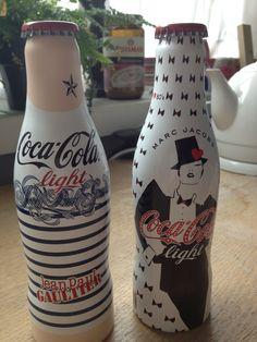 Designer Coca-Cola bottles by J.P. Gaultier and Marc Jacobs @ Bijenkorf